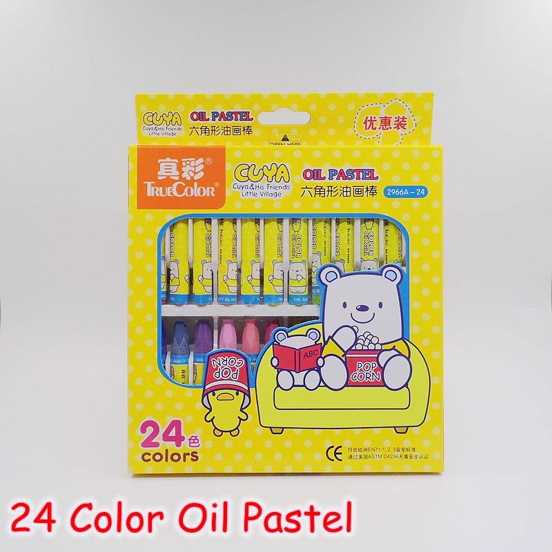 [FORREST SHOP] Cartoon Painting Supplies 24 Color/Set Wax Crayons For Kids / Soft Oil Pastel Drawing Pencils Children Gift C-24<br><br>Aliexpress
