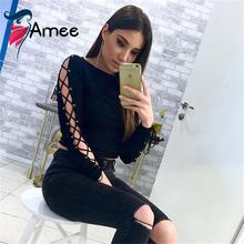 Buy T shirt Women 2016 Clothing Autumn Casual T-shirt Tops Ladies Black Long Sleeve hollow T-shirt Slim Basic Women Tops Blusas for $13.94 in AliExpress store