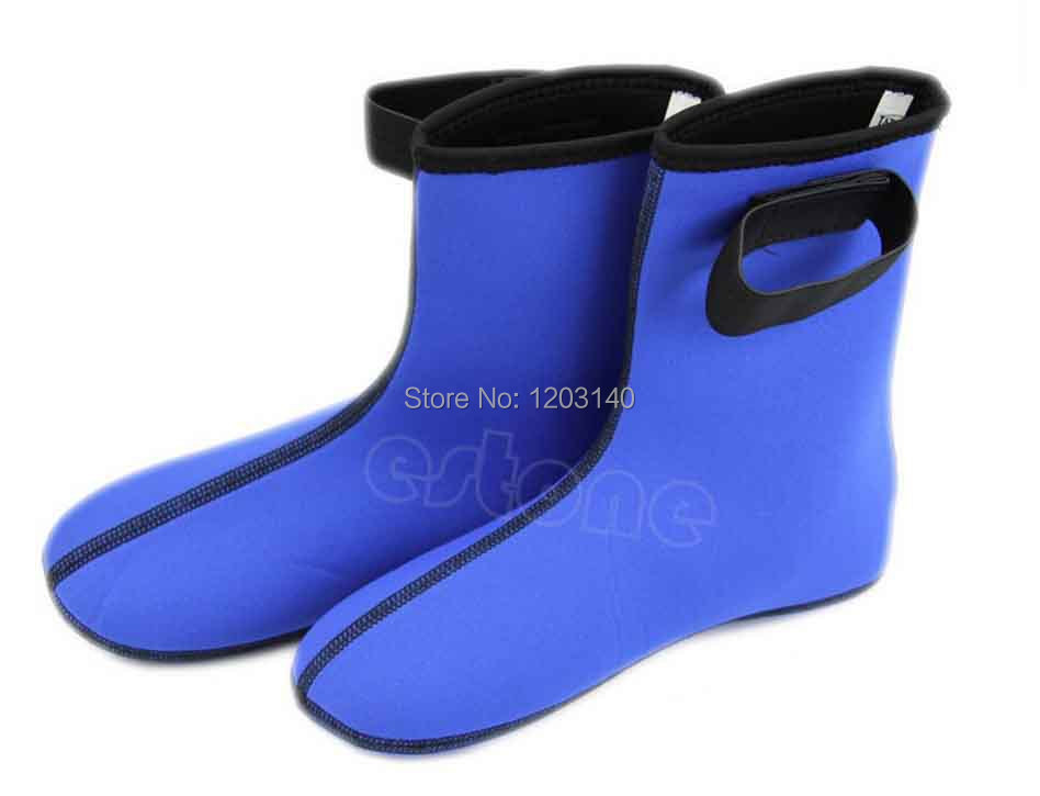 Black and blue 3MM Neoprene Water Sports Swimming & Diving diving fins Swimming Fins Slip-resistant submersible thermal socks(China (Mainland))