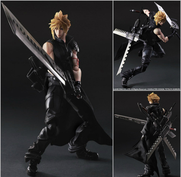 25cm Cloud Strife Final Fantasy VII 7 Advent Children Animation Cartoon Action Figure PVC Model Toys Dolls Gift(China (Mainland))