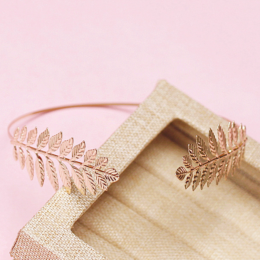 pale golden leaves hairbands baroque hair ornaments vintage gold leaf headpiece wedding hair accessories for women(China (Mainland))