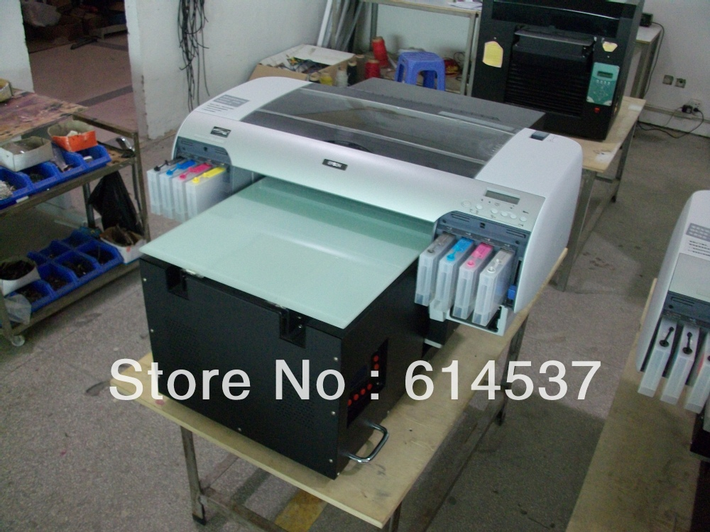 Directly digitla a2 longer inkjet faltbed printing better for T shirt screen printing prices
