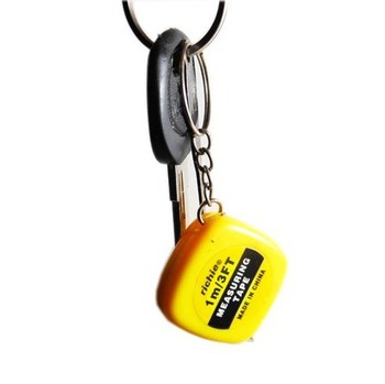 Trendsetter Mini Tape Rule Keychain 1m Tape Measure Key Chain Novelty Gift Cheap Price Accept Mixed Order