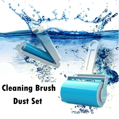 Cleaning Brush Dust Set Reusable Sticky Buddy Picker Cleaner Lint Roller Pet Hair Remover Brush(China (Mainland))