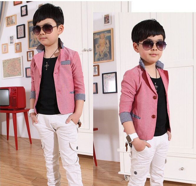 New 2015 Spring Autumn Casual Boys Blazers Kids Suits ...