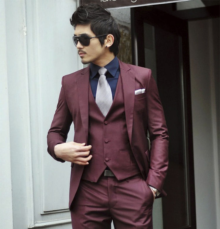 69-Free Shipping New 2015 man suit classic Fashion grooms man suits! Men's Blazer Business Slim Clothing Suit And Pants