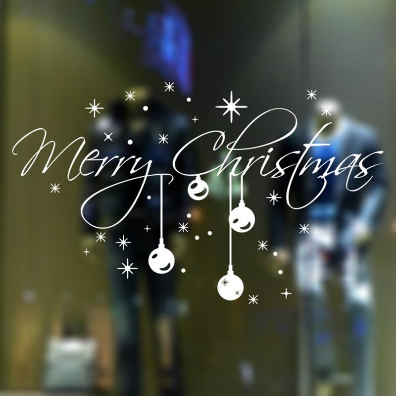 """"""" Feliz natal """" floco de neve adesivos de parede de decoração de parede à prova d ' água(China (Mainland))"""