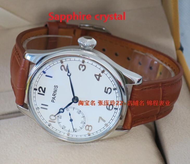 Сапфировое стекло 44 ММ PARNIS ST3600/6497 Механическая Рука Ветер гусь шеи движение механические часы мужские часы
