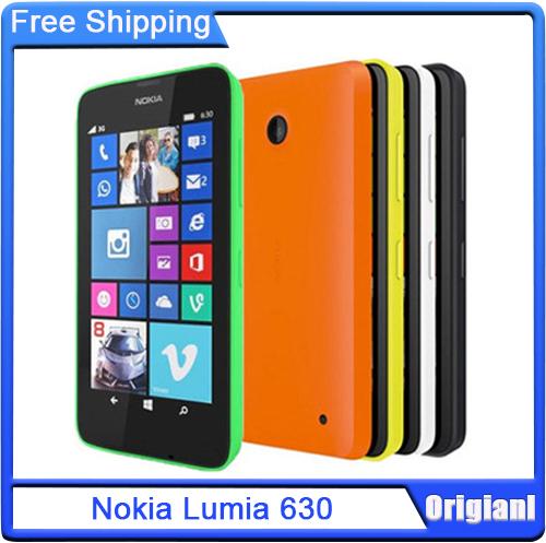 Original Nokia Lumia 630 Quad Core 1.2GHz Window Phone 8 OS RAM 512MB ROM 8GB 5MP Camera 3G WCDMA Cell Phone(China (Mainland))