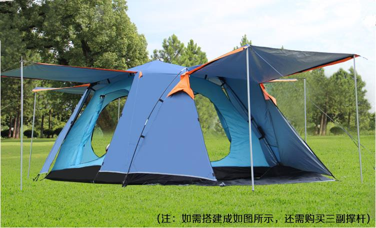 Special 3-4 person two persons tent rain double automatic square top outdoor camping tent<br><br>Aliexpress