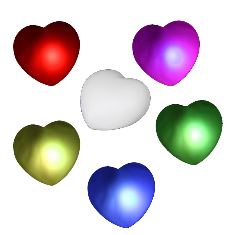 RGB Colorful LED Heart Christmas/Valentine/Wedding Decoration Night Light Best Gift For Lovers Best Friends(China (Mainland))