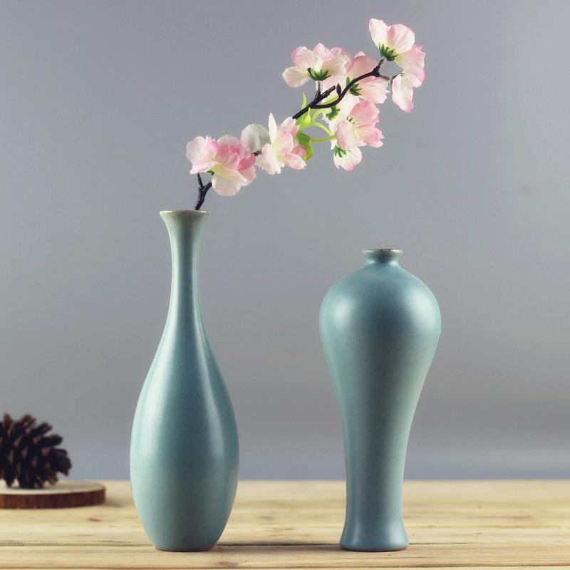 Modern fashion Home Furnishing, small handmade ceramic vases, flower, desk accessories, crafts, flower pot, flowerpot(China (Mainland))
