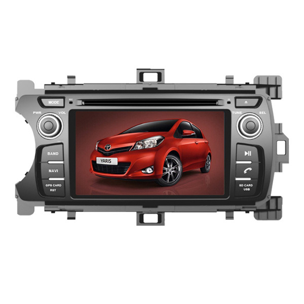 Wholesales price CS-T057 CAR DVD WITH GPS FOR TOYOTA YARIS 2012 left driving(China (Mainland))