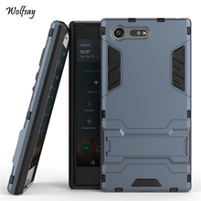 Buy Sony Xperia X Compact Case F5321 Slim Robot Armor Kickstand Shockproof Hybrid Rubber Case Sony X Compact Phone Cover for $2.98 in AliExpress store