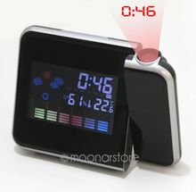 New Arrival Trustworthy Projection Digital Weather LCD Snooze Alarm Clock Color Display LED SY0024A(China (Mainland))