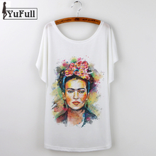 Buy Frida Kahlo Print Camisetas Mujer Summer 2017 Casual T-Shirt Women Tops Harajuku White Loose Tshirt Short Sleeve T Shirt Femme for $4.88 in AliExpress store