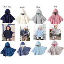 2015  Fleece Combi Baby Coat Babe Cloak Two-sided Outwear Floral Baby Poncho Cape Infant Baby Coat Children's Clothing(China (Mainland))
