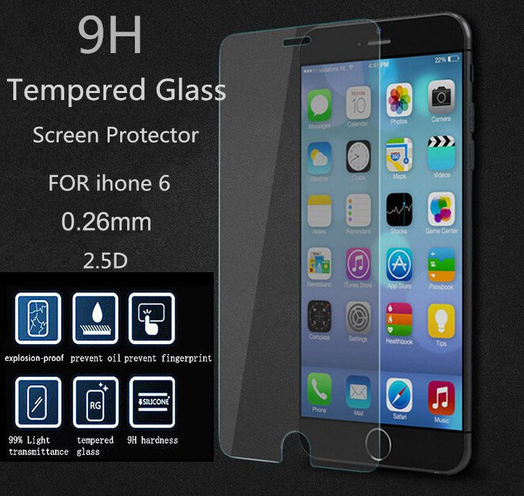 Hot! 6G Explosion-proof Tempered Glass For Apple iphone 6 6G Premium Screen Anti Shatter Protector Film For iphone6