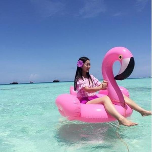 1Pcs PVC Summer Flamingo Pool Float Inflatable Swimming Ring Bathing Beach Toy(China (Mainland))