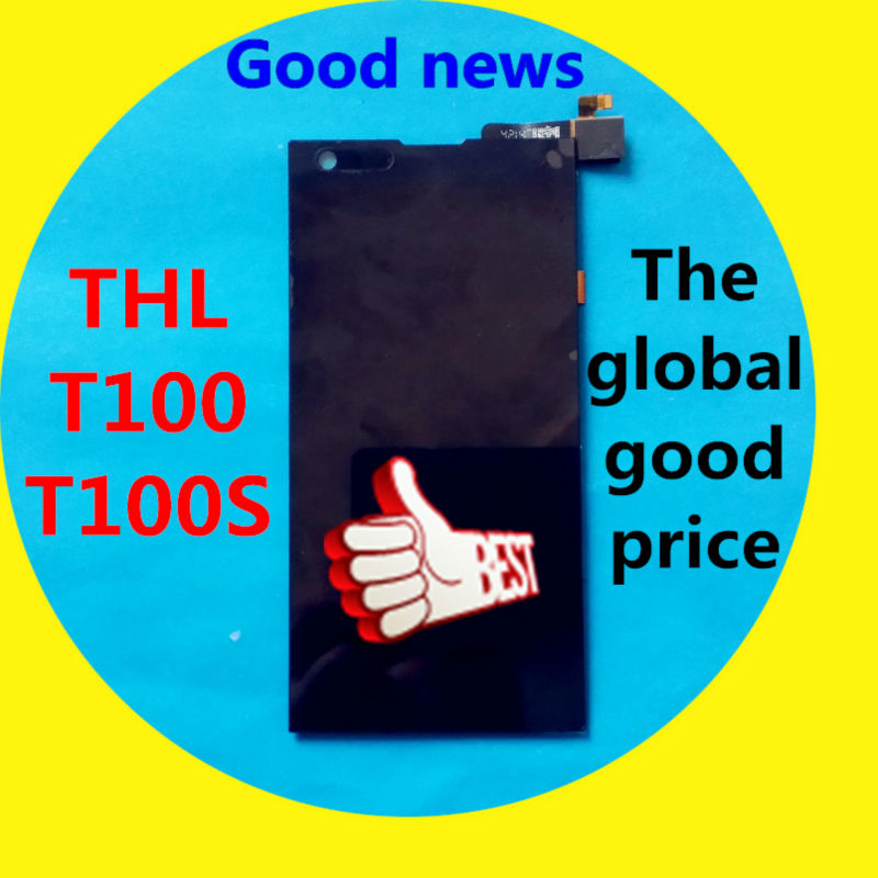 In Stock! Mobile Phone LCD Display + Touch Screen Digitizer Assembly Replacement for THL T100 / T100S
