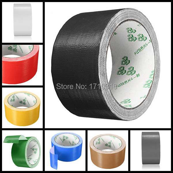 Lowest Price Colorful Durable Single-Side 50mm x 10m Duct Gaffa Gaffer Waterproof Self Adhesive Repair Cloth Tape(China (Mainland))