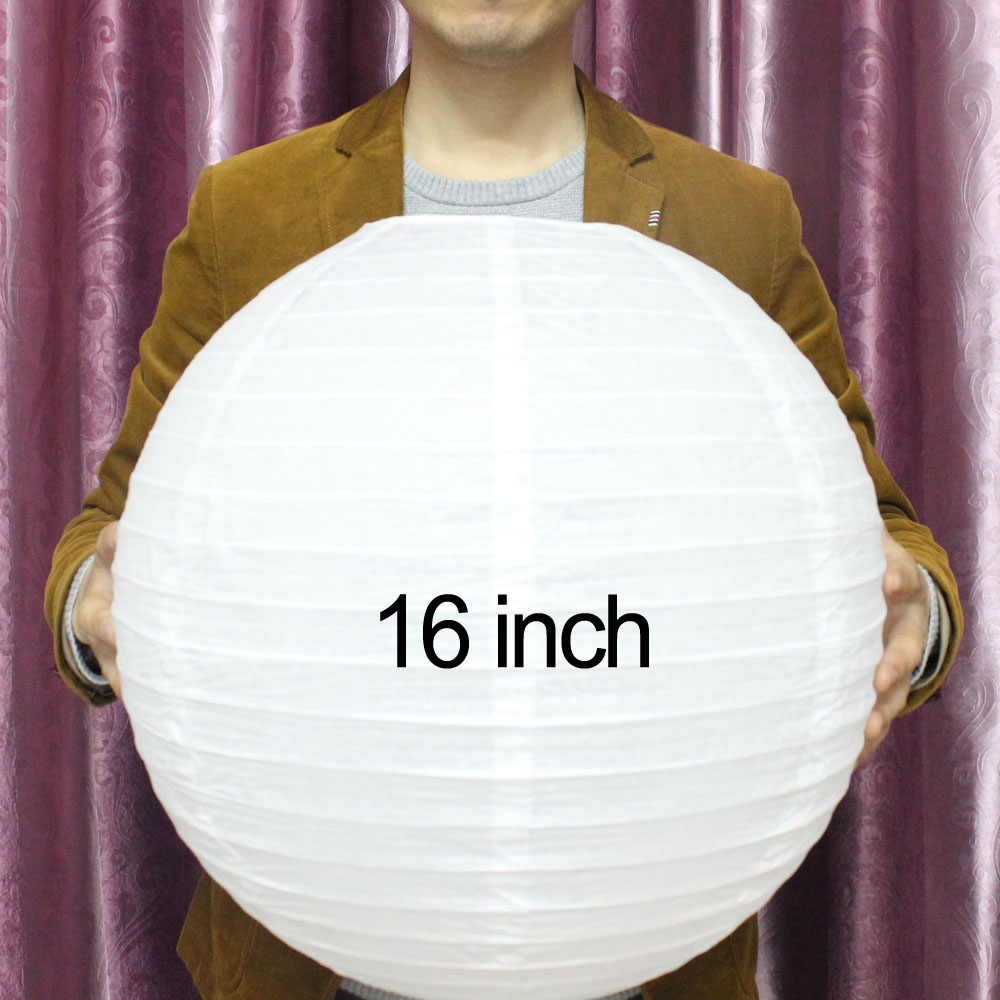 "10pcs 16"" Round Paper Lantern 40cm Chinese Paper Lantern Wedding Lantern Festiv Decoration(China (Mainland))"