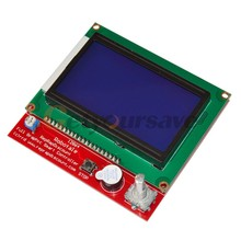 Graphic Smart 12864 128 64 LCD Display controller adapter for RAMPS 1 4 3D Print
