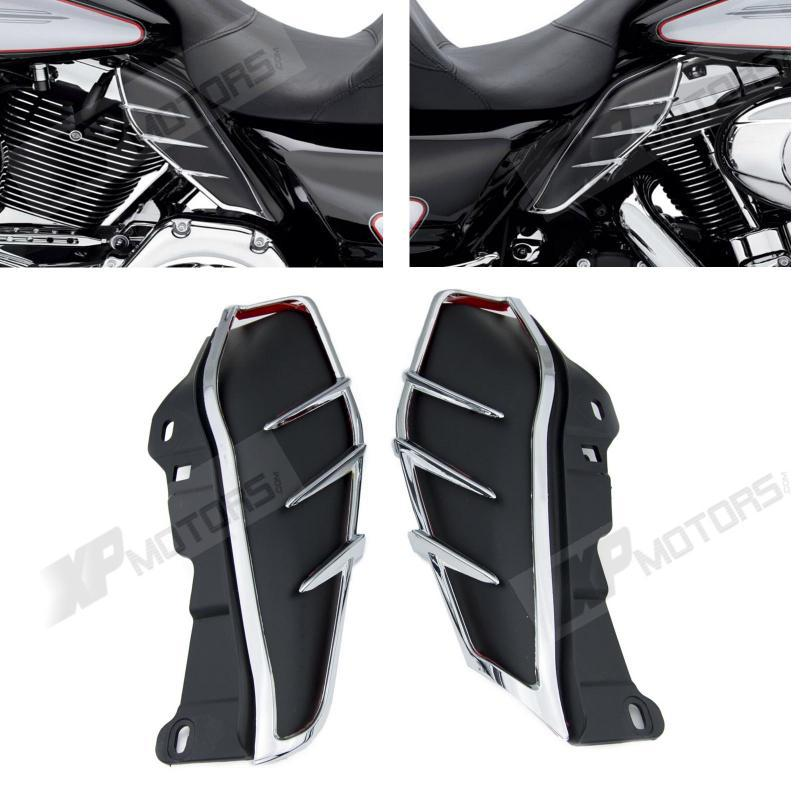 New A Pair ABS Plastic Mid-Frame Air Deflectors Trims For Harley Touring FLHRC FLHTCUTG FLHTCU 2009 2010 2011 2012 2013<br><br>Aliexpress