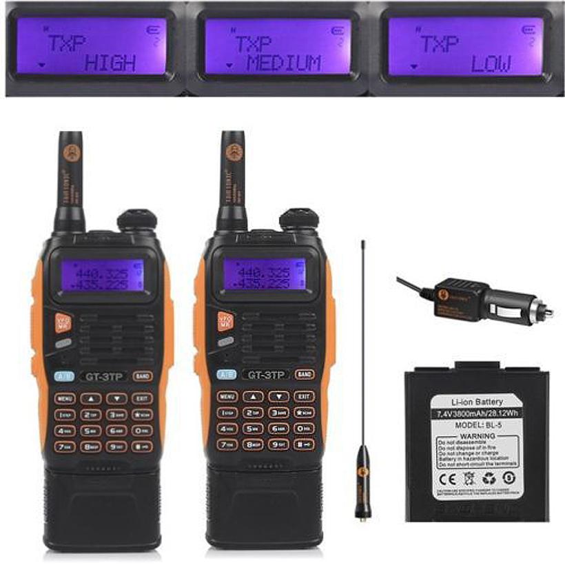 2 PCS 3800mAh Battery Baofeng GT-3TP Mark III 8W Dual Band V/UHF Ham Two-way Radio Walkie Talkie(China (Mainland))