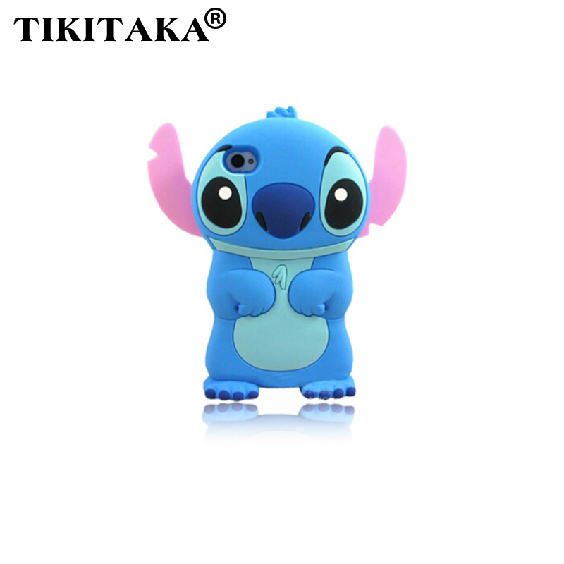 2016 New Style cute cartoon model silicon material Stitch 3D shape Movable Ear cover phone Case Apple iPhone 4 4S 5 5S 5C SE - Corcossi Science & Technology CO., LTD store