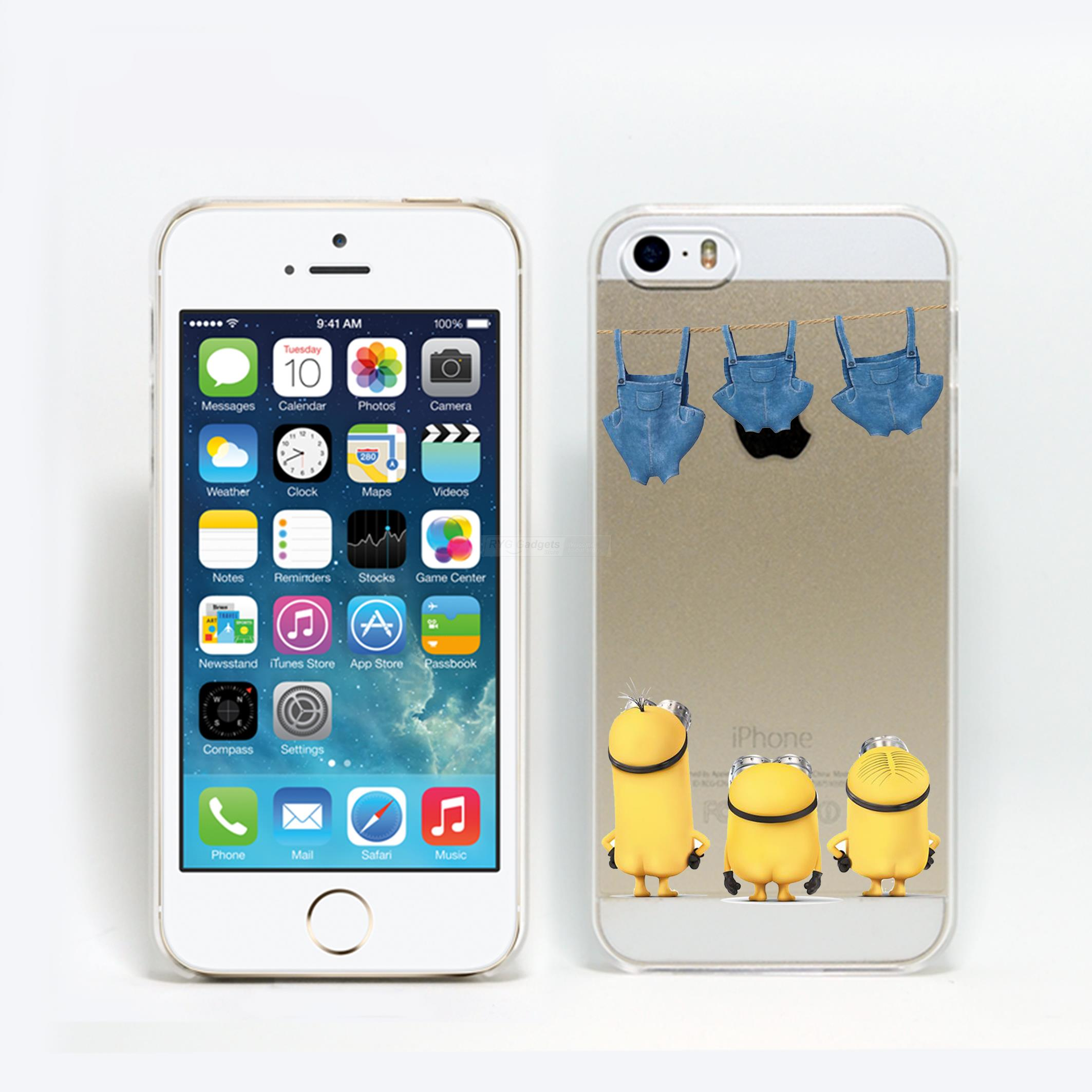 Funny Cartoon Minions Despicable Me Hard PC Case Cover For iphone 5 5s