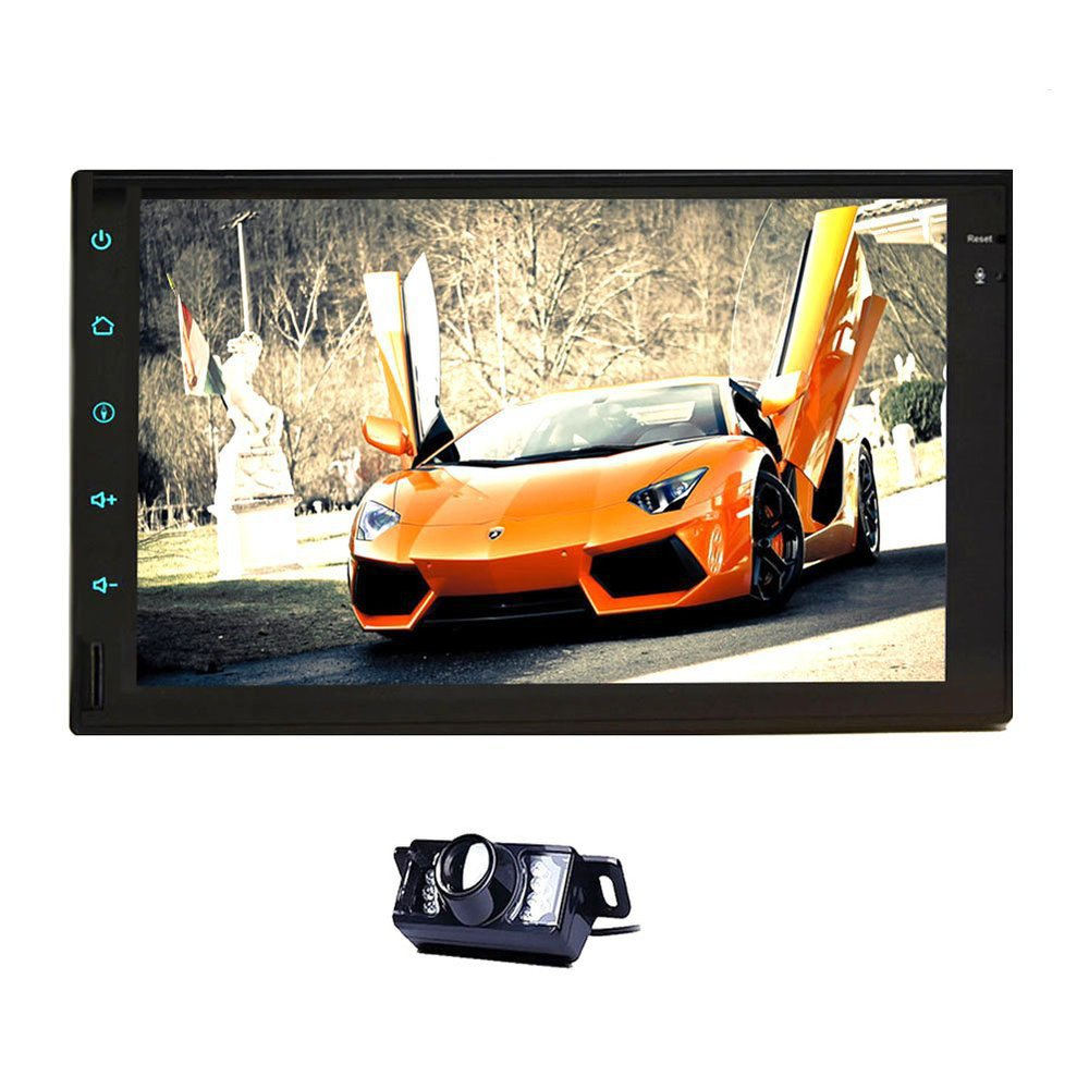 Free Camera+7inch HD In dash Pure Android Car GPS Navigation Double 2din Car Stereo Radio None-DVD MP3 Player Car headunit(China (Mainland))