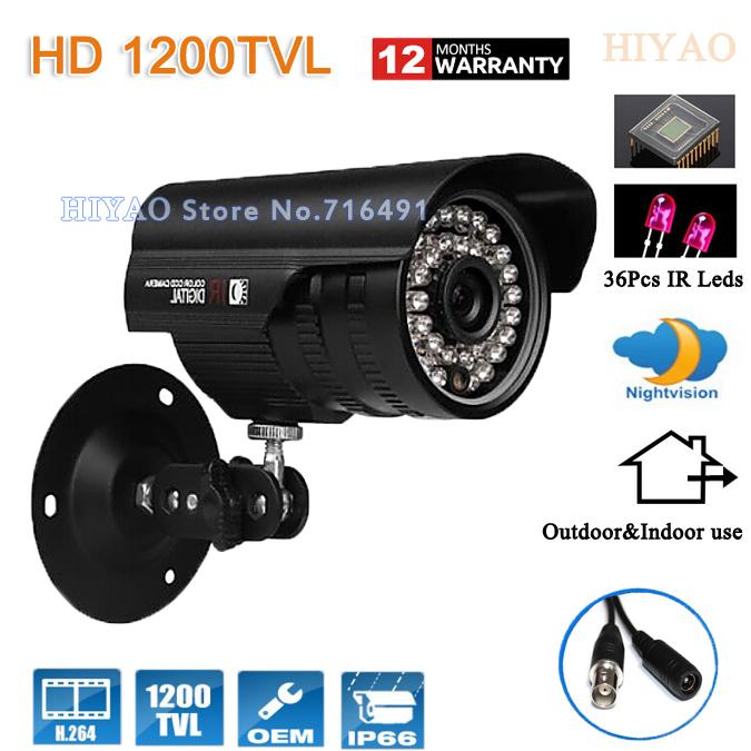 HD 1/2.5'' Sony CMOS 1200tvl 36leds IR Waterproof Outdoor 960H Security CCTV camera surveillance camera Free shipping(China (Mainland))