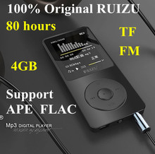 2015 100% original English version  Ultrathin MP3 Player with 4GB storage and 1.8 Inch Screen can play 80h, Original RUIZU X02(China (Mainland))