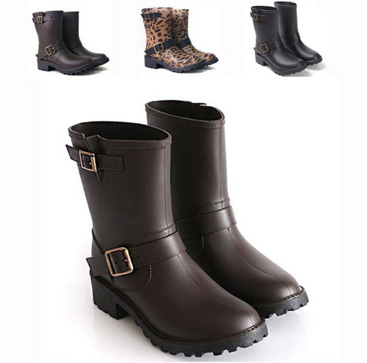 2015 Fashion women rainboots brand H low heels waterproof wellies,Classic A rain boot,woman water shoes plus size35-41 M261(China (Mainland))
