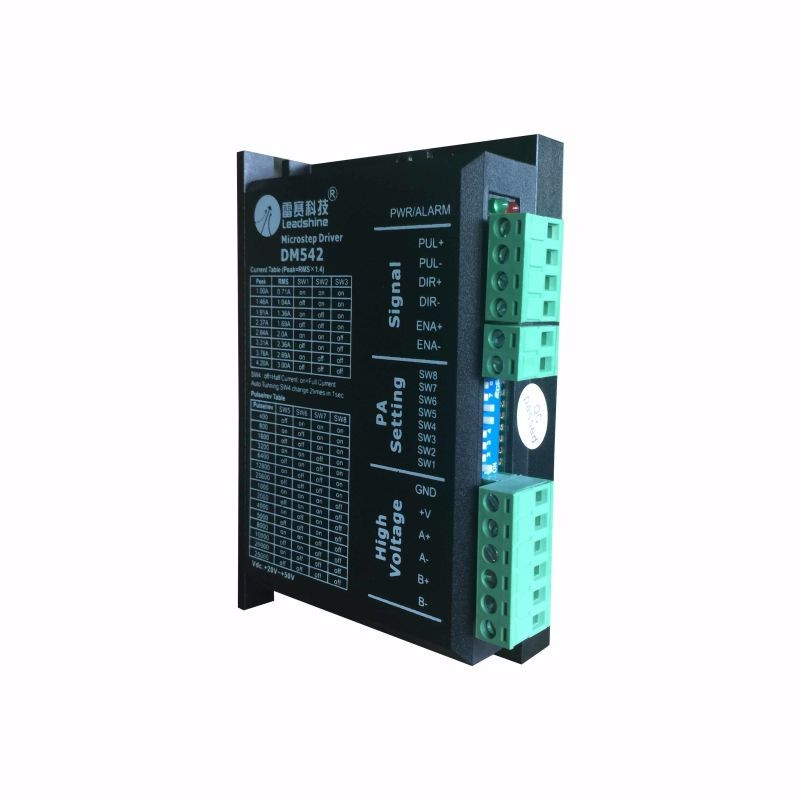 DM542 Stepper Motor Controller Leadshine 2-phase Digital Stepper Motor Driver 18-48 VDC Max. 4.1A for 57 86 Series Motor