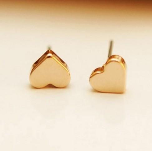 Chrismas/wedding Gift Top Grade Luxurious Gold Plated Heart Shape Stud Earring Jewelry Women Love Fashion Earrings - Yiwu JCK Co.,Ltd store
