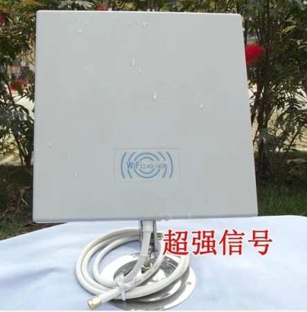 Outdoor Panel Antenna with 75cm cable 14dB 2.4GMHz for Wireless WiFi WLAN signal booster 2pcs/lot