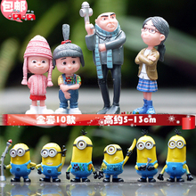 10pcs/lot 2015 New Despicable Me 2 Toys Ornament Christmas Gift Action Figure doll Minion Decoration Brinquedos