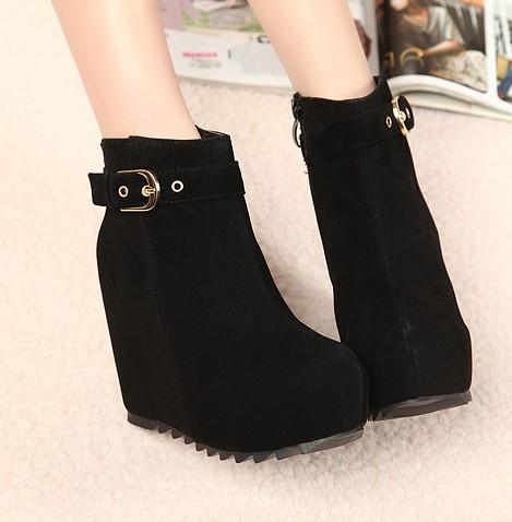 Buy fashion boots autumn winter women shoes platform high heels ...