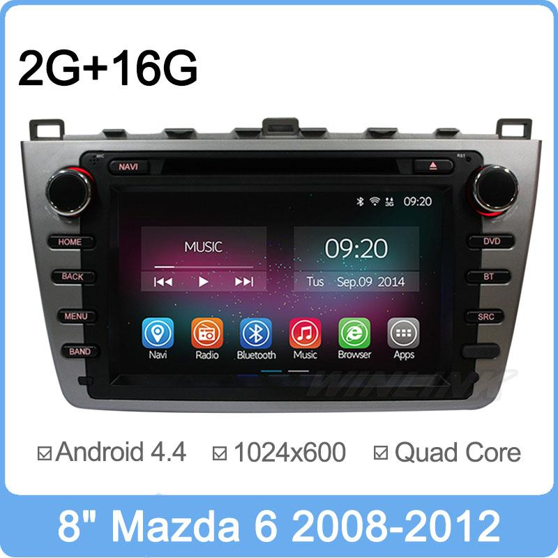 8 inch Android 4.4.2 Quad Core For Mazda 6 2009 2010 2011 2012 2015 Car DVD Player GPS Navigation Multimedia Support OBD 2G RAM(China (Mainland))