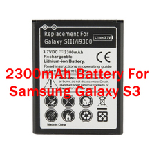 New Replacement Lithium-ion Battery for Samsung Galaxy S3 i9300 (3.7v, 2300mAh)