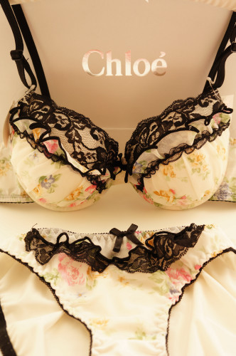 Small underwear lace young girl thickening sexy push up bra underwear set 3007
