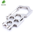 Multi Function Stainless Steel Camping Carabiner Climb Rope Gear Pulley System Screwdriver Wrench Biner Full Size