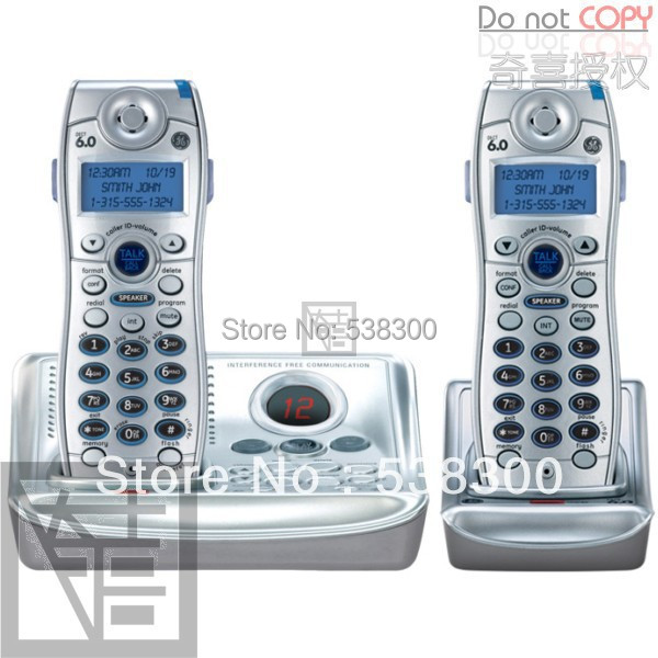 Free Shipping GE 28112 DECT 6.0 Cordless Phone Dual Handset with Digital Answerer and Caller ID Home Wireless Telephone(China (Mainland))