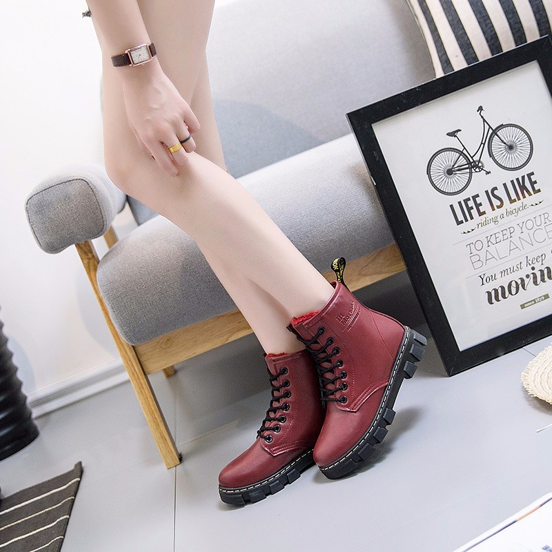 fashion Pure handmade ankle half short boots casual Martin women's Boots PU Leather  sandalia feminina zapatillas mujer 2017