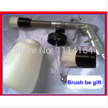 brush gift car washer guy Black tornador cleaning gun for cars Air Opearted Car Wash Equipment ,high pressure for car cleaning(China (Mainland))