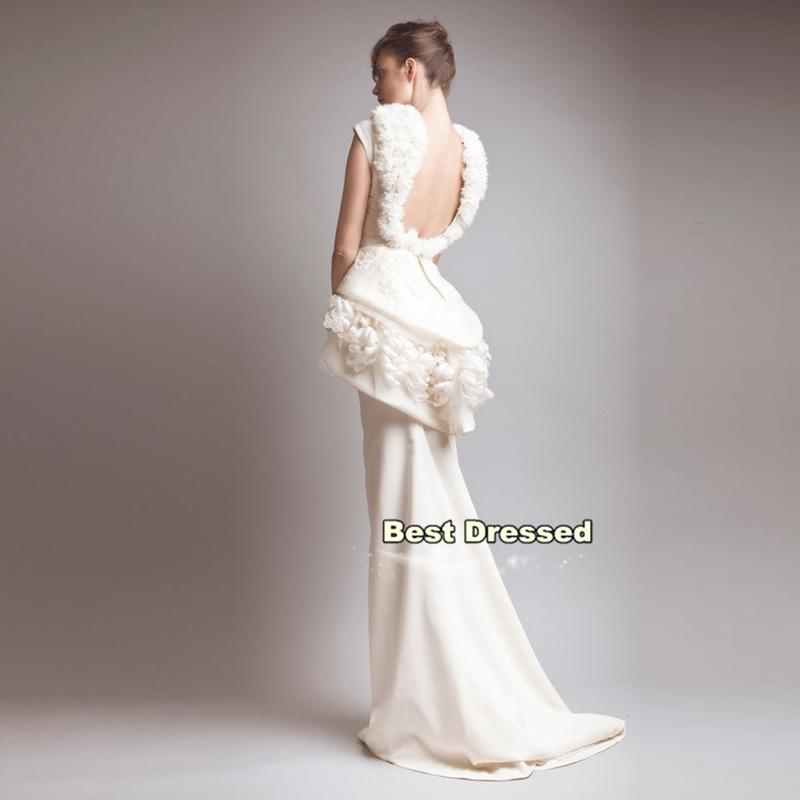 Wedding Dress Lace Flowers : Wedding gown flowers lace appliques cap sleeve unique dress