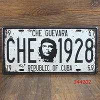 TPH15060965 CHE GUEVARA License Plate Vintage Metal Tin Signs Bar Pub Cafe Home Art Metal Signs Size:15*30cm