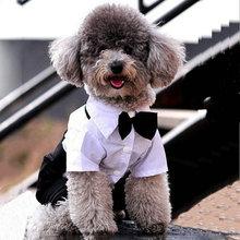 Mascotas Западный Стиль мужские Костюмы галстук-Бабочку Мелких Животных Одежда Для Собак Щенок Одежда Комбинезон Cachorro